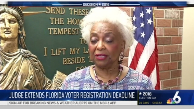 [MI] Judge Extends Florida Voter Registration Deadline