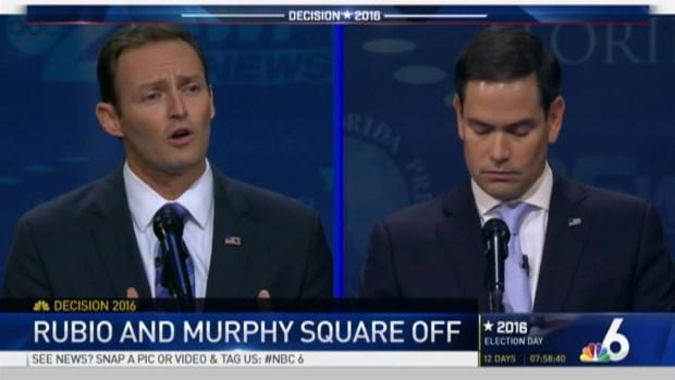 Rubio, Murphy Hit Hard in Senate Debate at Broward College