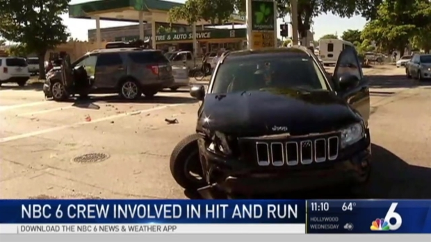 [MI] NBC 6 News Crew Victimized By Hit and Run Driver