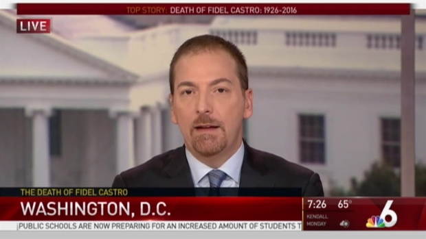 [MI] 'Meet the Press' Moderator Chuck Todd Discusses Death of Castro With NBC 6