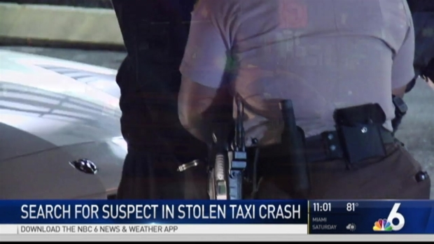 [MI] Armed Robbery Leads to Crash of Stolen Taxi in NW Miami-Dade
