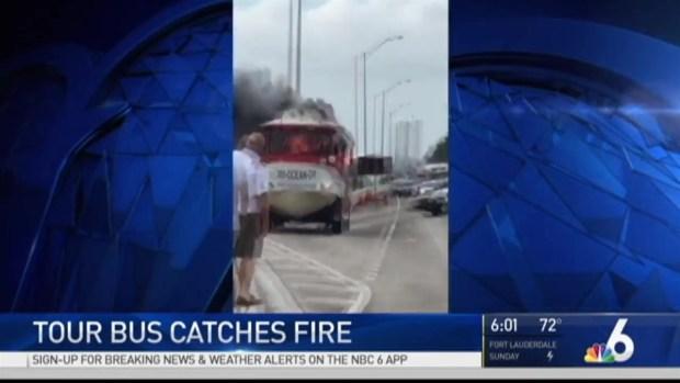 [MI] Duck Tour Bus Catches Fire on MacArthur Causeway Near Miami Beach