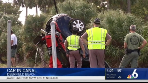 [MI] 3-Year-Old Girl, Mother Hospitalized After Car Crashes Into Canal Off I-95 In Deerfield Beach