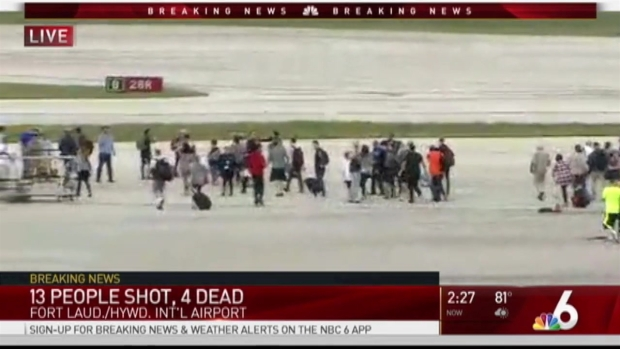 Five People Shot Dead By Gunman At Fort Lauderdale Airport Florida