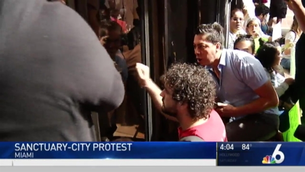 [MI] Protest Held Over Miami-Dade Mayor's Immigration Move