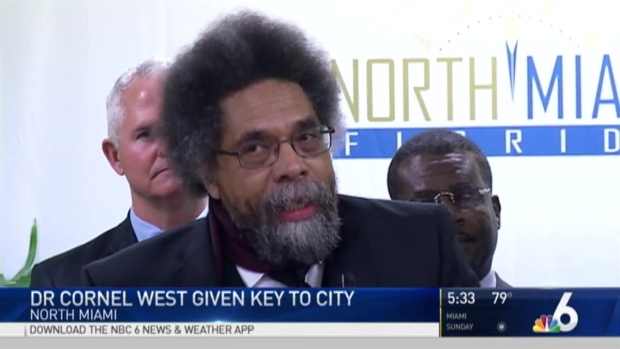 Dr. Cornel West Honored WIth Keys to City of North Miami