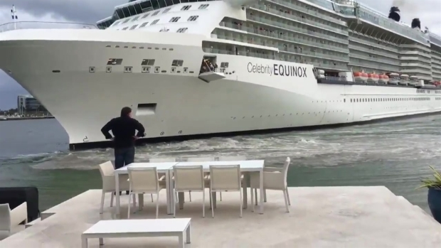 Cruise Ship Close Call