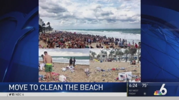 [MI] CleanUp After Spring Breakers on Fort Lauderdale Beach
