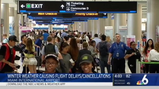 [MI] South Florida Flights Canceled Ahead of Storm in Northeast