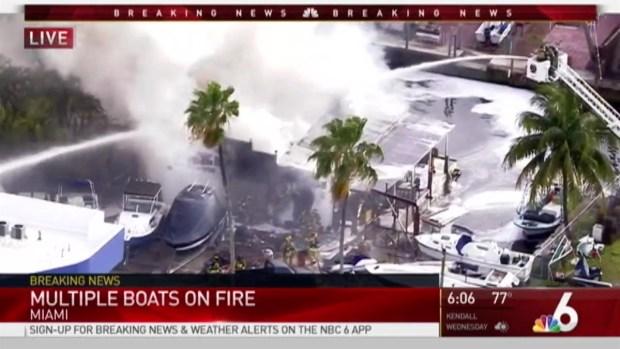 [MI] Multiple Boats Catch Fire in MIami