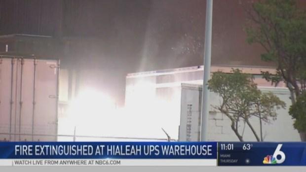 [MI] Fire Breaks Out Inside Hialeah UPS Warehouse Wednesday