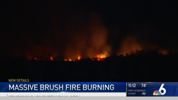 Broward Brush Fire Grows to 1,000 Acres