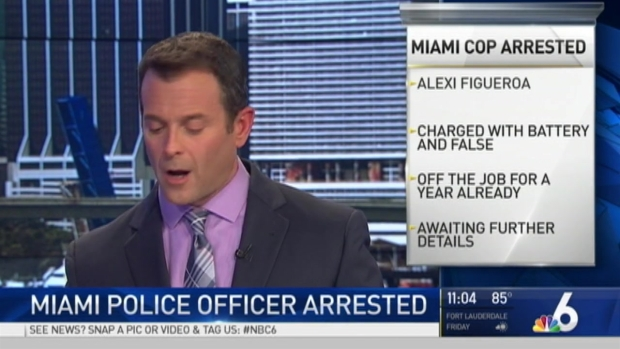 [MI] Miami Officer Arrested on Several Charges, Including Battery