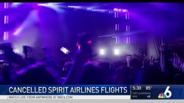 Passengers fight after Spirit Airlines cancels flights