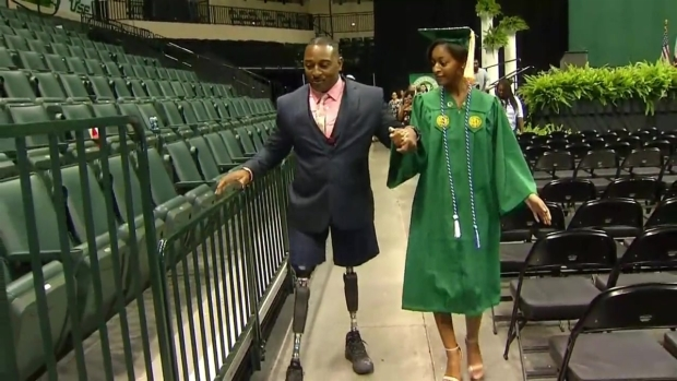 [MI] Maj. Carter Walks at Graduation