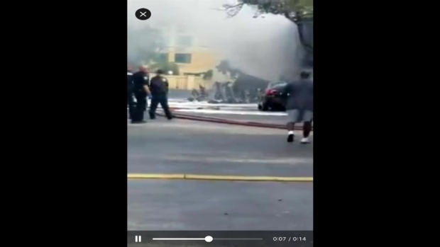 Scene Video: Small Plane Crashes in Ft. Lauderdale
