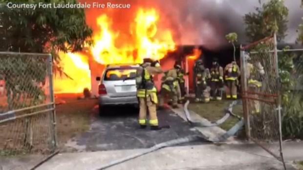 [MI] Massive Fire Destroys Fort Lauderdale Home