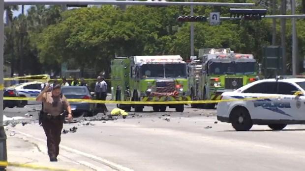 2 Dead, 1 Critical After Fiery Crash in Virginia Gardens - NBC 6