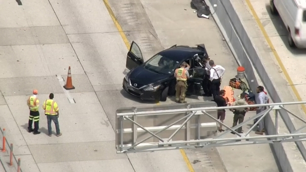 [MI] Scene of Fatal Crash on I-95 in Miami-Dade