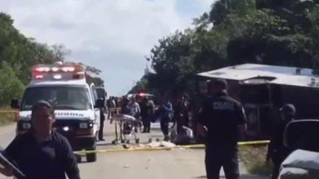 State Dept: 8 Americans killed in Mexican tour bus crash