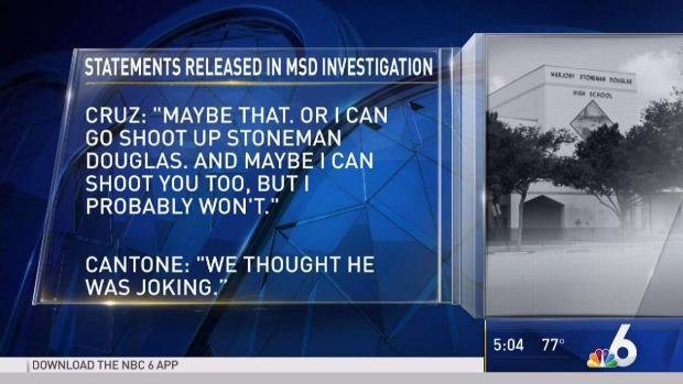 [MI] Witness: Parkland Shooting Suspect Made Threats About School