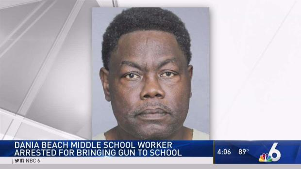 [MI] Worker Accused of Bringing Gun to Dania Beach School