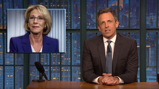 [NATL] 'Late Night': Checking in on DeVos' Rollback of Civil Rights