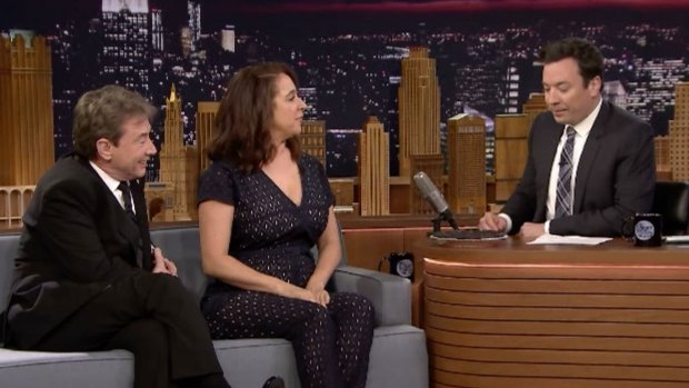 [NATL] 'Tonight Show': 'Maya & Marty' Stars Bake Fallon a Pie
