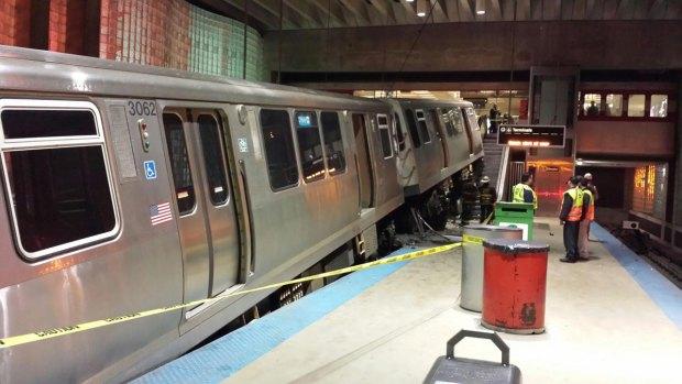 Photos: Blue Line Crash at O'Hare