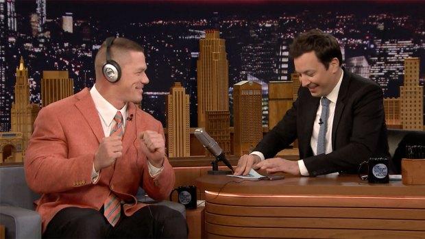 'Tonight Show': Whisper Challenge With John Cena