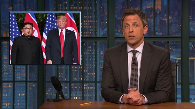 [NATL] 'Late Night': A Closer Look at Trump Meeting Kim Jong Un