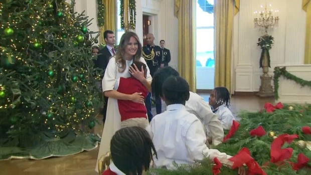[NATL] 'She Seriously Looks Like an Angel': First Lady Awes Children at White House Christmas Event