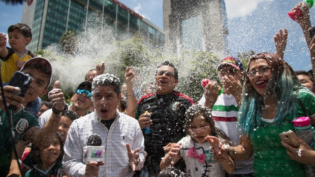 [NATL] Top News Photos: Mexico Celebrates Upset Over Former World Cup Champion Germany