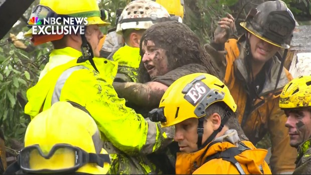 [NATL-LA] Firefighters Rescue Montecito Girl Trapped for Hours in House Destroyed by Storm