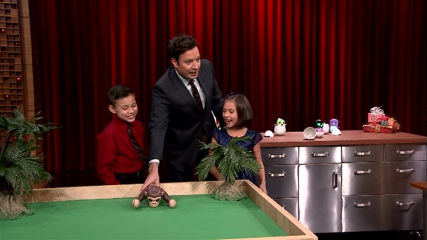[NATL] 'Tonight Show': Kids Demo the Hottest Christmas Toys