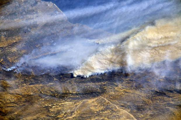 [NATL-LA GALLERY UPDATED 12/12] Smoke and Fire From Space: Wildfire Images From NASA Satellites