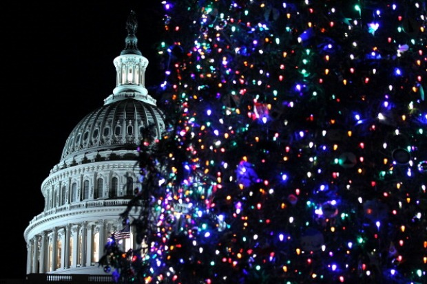 Boehner Lights Capitol Christmas Tree