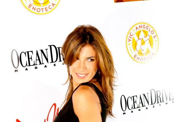 Elisabetta Canalis Hits South Beach