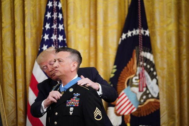[NATL] President Donald Trump Gives Medal of Honor to First Living Iraq War Veteran