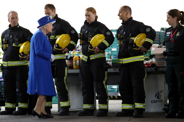 [NATL] Queen, Prince Visit Volunteers Helping with London Fire Aftermath