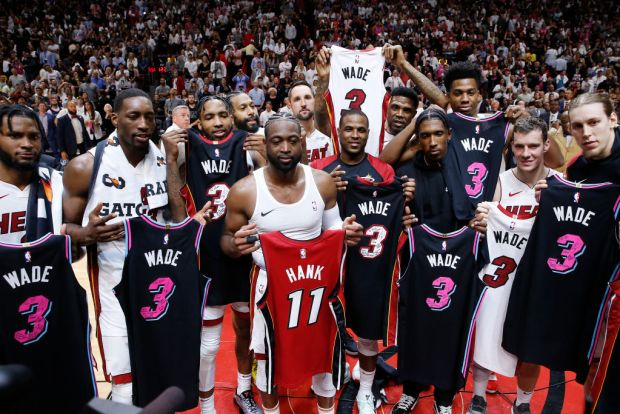 Dwyane Wade Celebrated by Miami Heat During Final Home Game