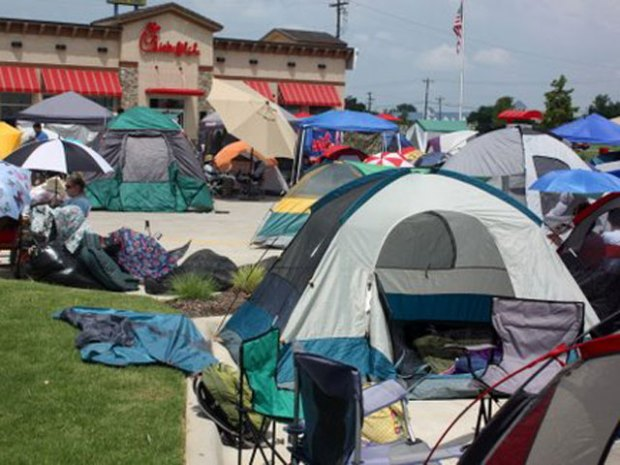 100+ Camp Out for Free Chick-fil-A