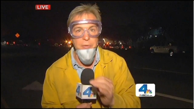 [LA] Springs Fire Reaches PCH