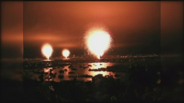 Fireworks Shot Off Early in Bay