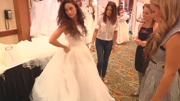 [MI] Brides-To-Be Buying Wedding Dresses, Fighting Cancer in Sale at Miami Hotel