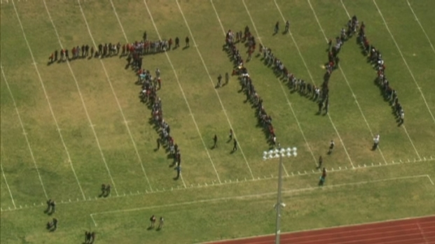 [MI] Cutler Bay Students Form TM In March For Trayvon Martin
