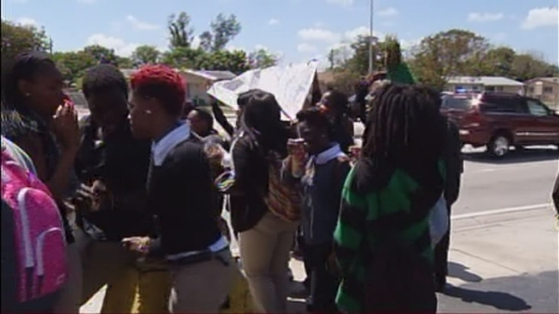 [MI] Carol City High School Students Hold Trayvon Martin Walkout