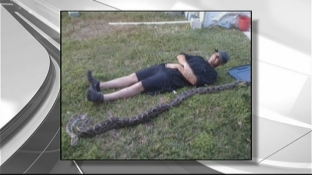 [MI] Man Catches Burmese Python