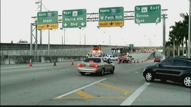 Express Lanes of I-95 North Closed After Crash Near NW 69th Street