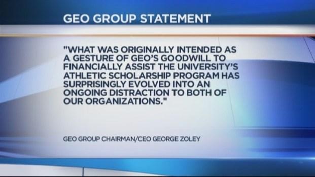 [MI] GEO Group Withdraws $6 Million Gift for Florida Atlantic University